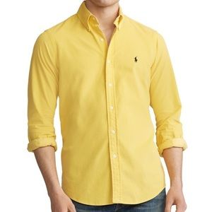 Ralph Lauren Yellow Medium Long Sleeve Twill Shirt